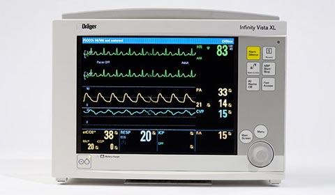 monitorización para pacientes neonatos, pediátricos y adultos Dräger Vista XL